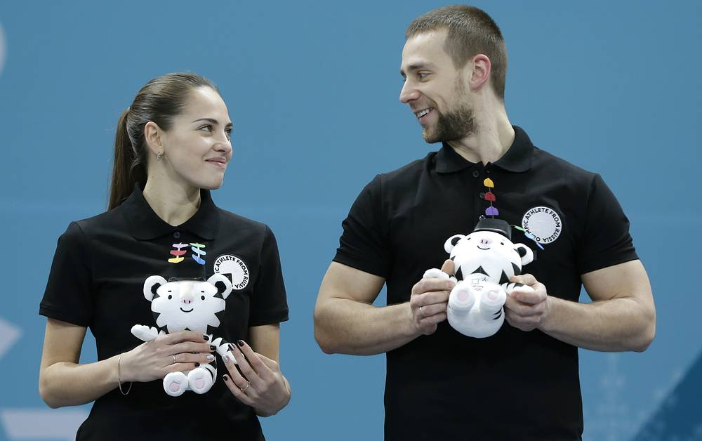 Russian curlers Anastasia Bryzgalova and her husband Alexander Krushelnytsky took bronze at the 2018 Winter Olympics