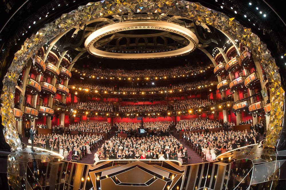 Jimmy Kimmel hosting the 90th annual Academy Awards ceremony at the Dolby Theatre in Hollywood