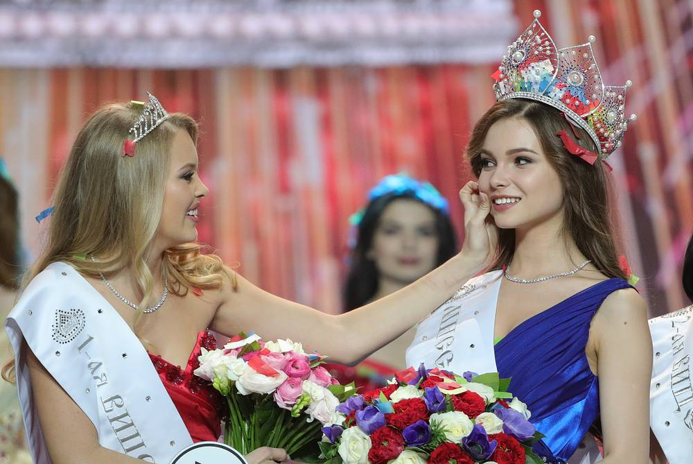 First Vice Miss Russia 2018 Violetta Tyurkina and Miss Russia 2018 Yulia Polyachikhina