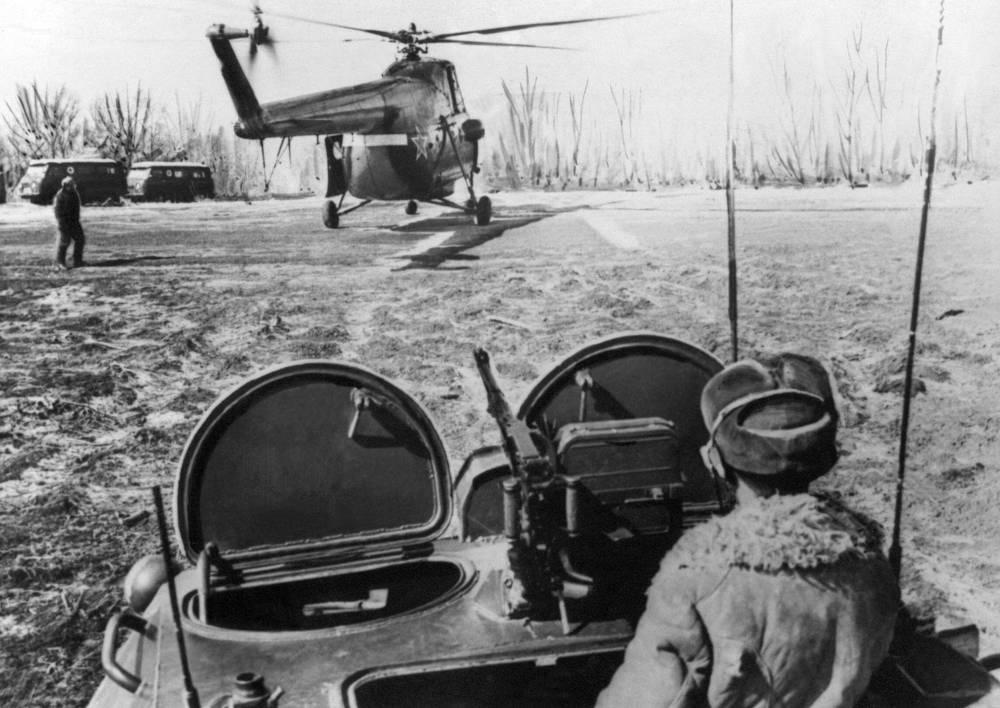 A border outpost near Damansky Island, Primorye Territory, 1969