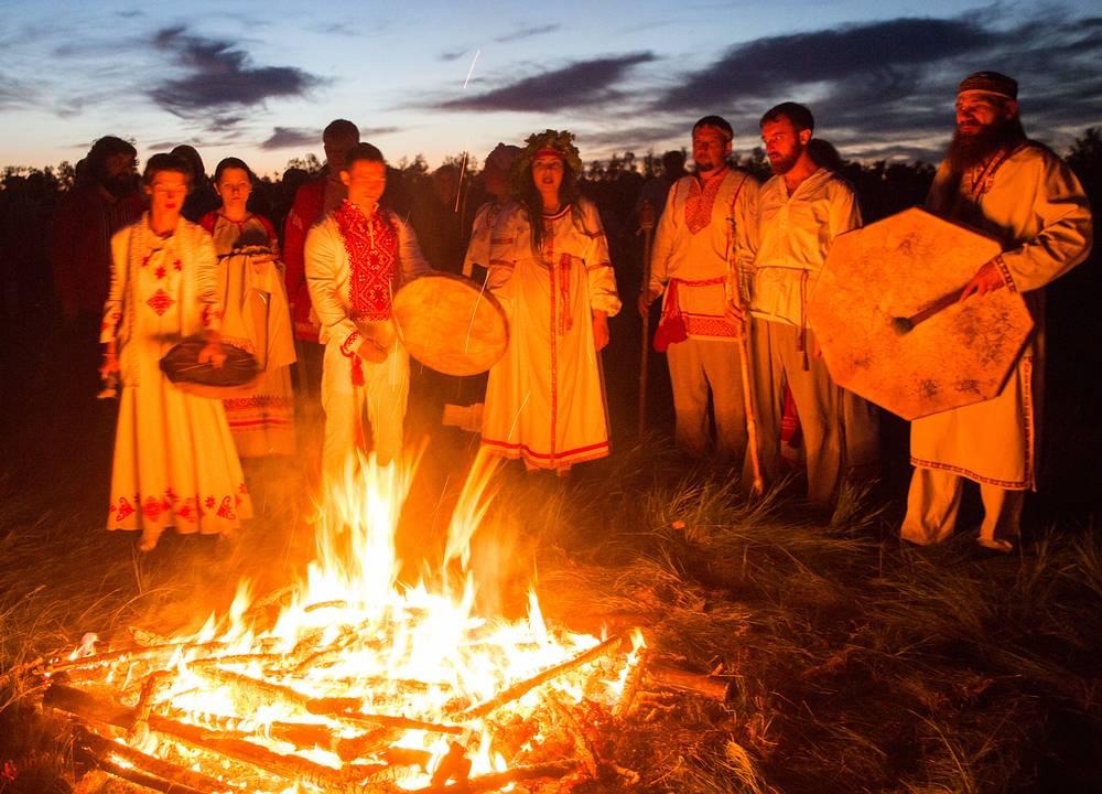 A summer solstice celebration in Omsk region