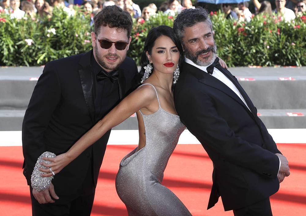 Director Gonzalo Tobal and actors Lali Esposito and Leonardo Sbaraglia