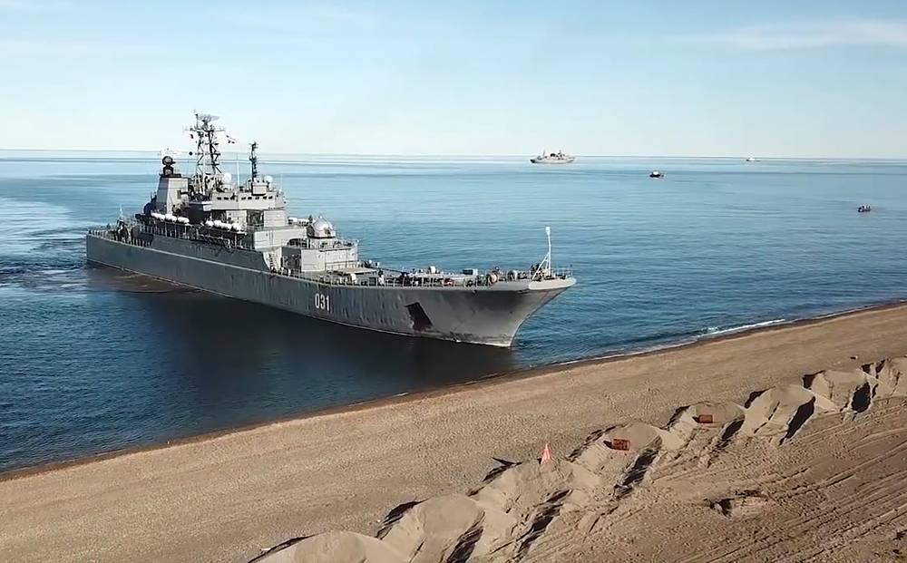 The Russian Navy Project 775 major amphibious assault ship Alexander Otrakovsky
