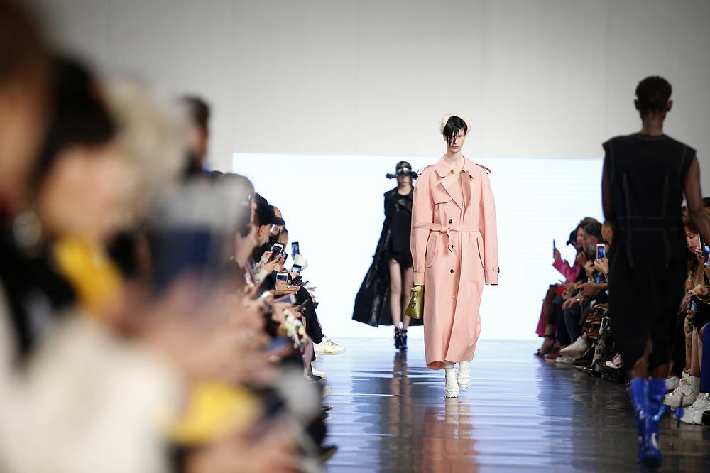 A model wears a creation as part of Maison Margiela Spring/Summer 2019 ready-to-wear fashion collection