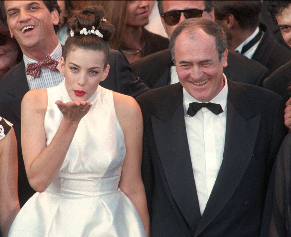 "Actress Liv Tyler and director Bernardo Bertolucci at the screening of the film ""Stealing beauty"" in Cannes, 1996"