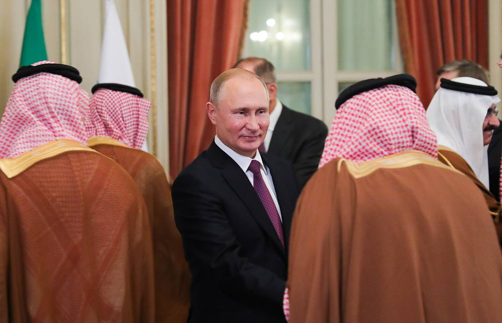 Russia's President Vladimir Putin is seen during a meeting with Saudi Arabia's delegation members on the sidelines of the 2018 G20 Leaders' Summit in Buenos Aires, December 1