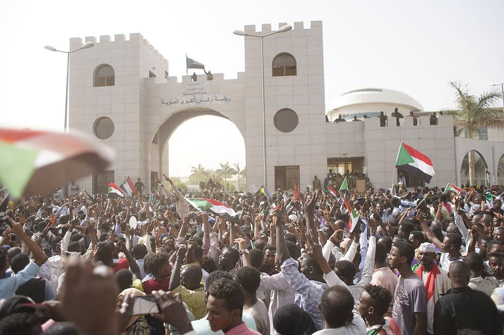 Sudanese military suspended the national constitution and dissolved the parliament and local authorities