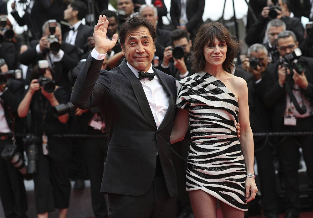 Actors Javier Bardem and Charlotte Gainsbourg