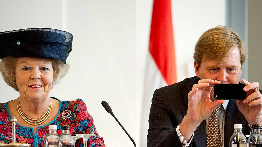 Queen of the Netherlands Beatrix with son Willem-Alexander