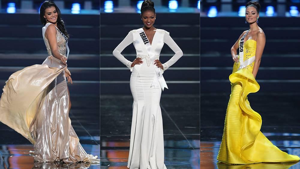 Мисс Мексика, Мисс Израиль, Мисс Пуэрто-Рико. Фото EPA/SERGEI ILNITSKY