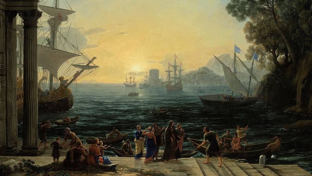 "Клод Лоррен. ""Средиземноморский порт на восходе...."" Christie's"