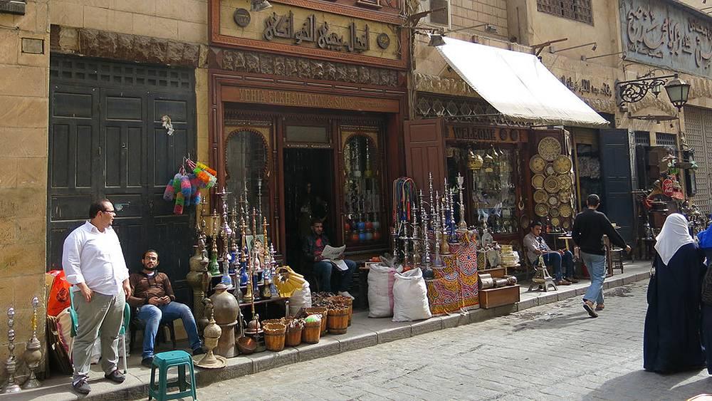 Торговые ряды базара Хан-эль-Халили в Каире. Фото Дмитрий Добродеев