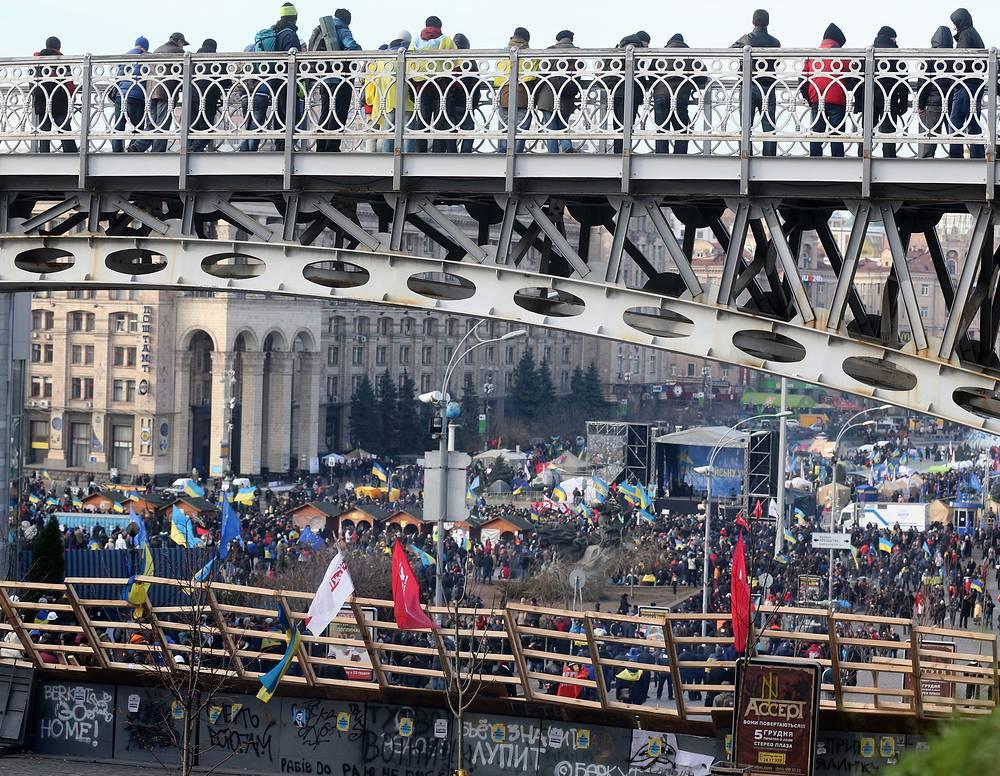 Акции сторонников евроинтеграции в Киеве