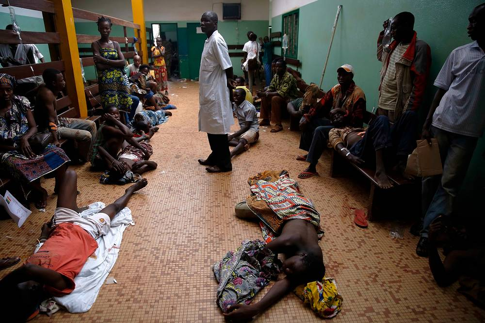 Раненые в больнице Банги