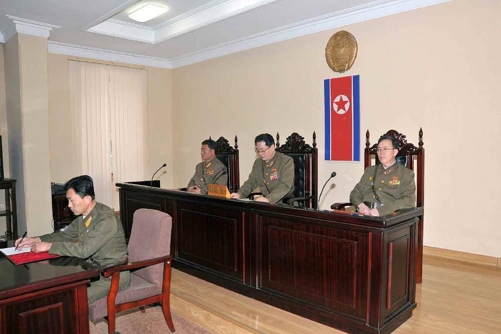 Во время заседания военного трибунала министерства народной безопасности КНДР