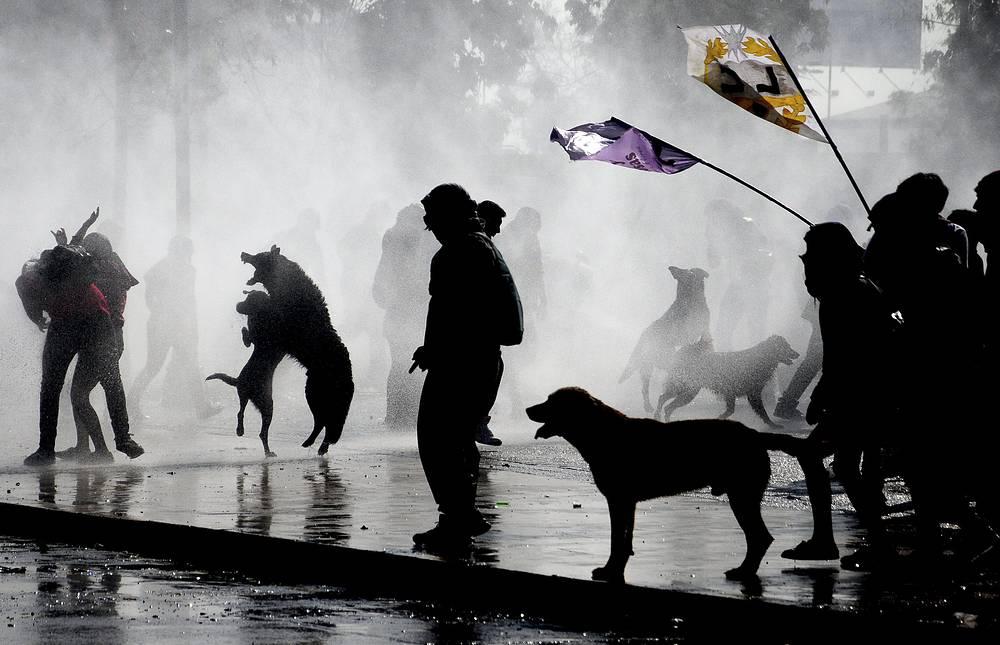 В Чили студенты потребовали реформы системы образования. Акции протеста прошли в Сантьяго (на фото) и других городах. 13 июня 2013 года