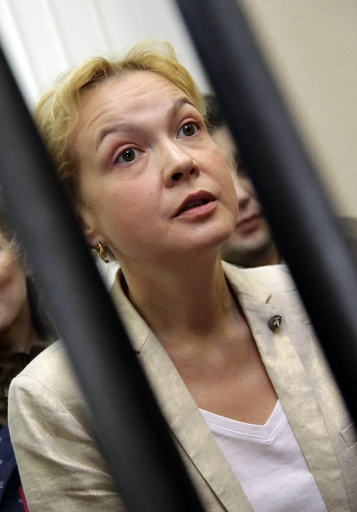12 сентября 2013 года. Бывший шеф-редактор новостного сайта URA.RU Аксана Панова во время заседания Ленинского районного суда