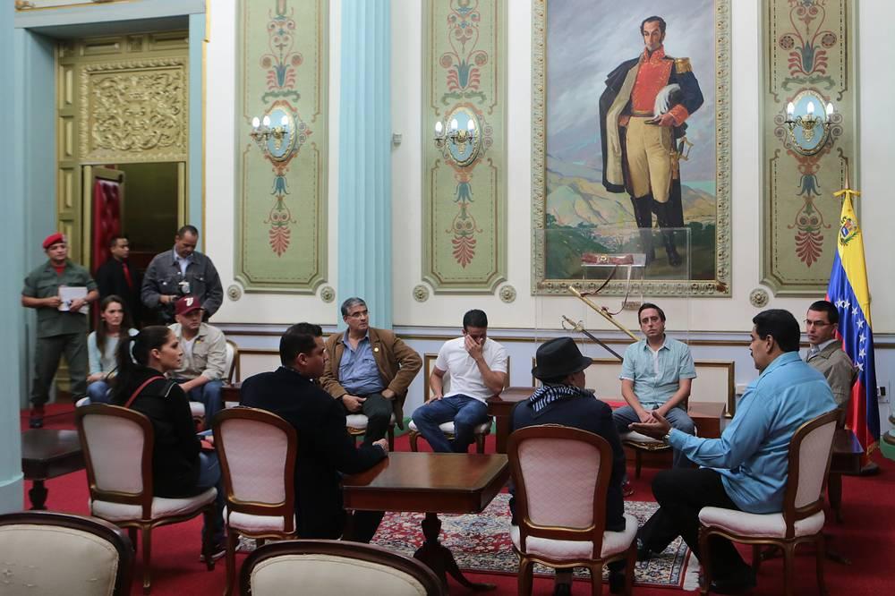 Президент страны Николас Мадуро на совещании губернаторов