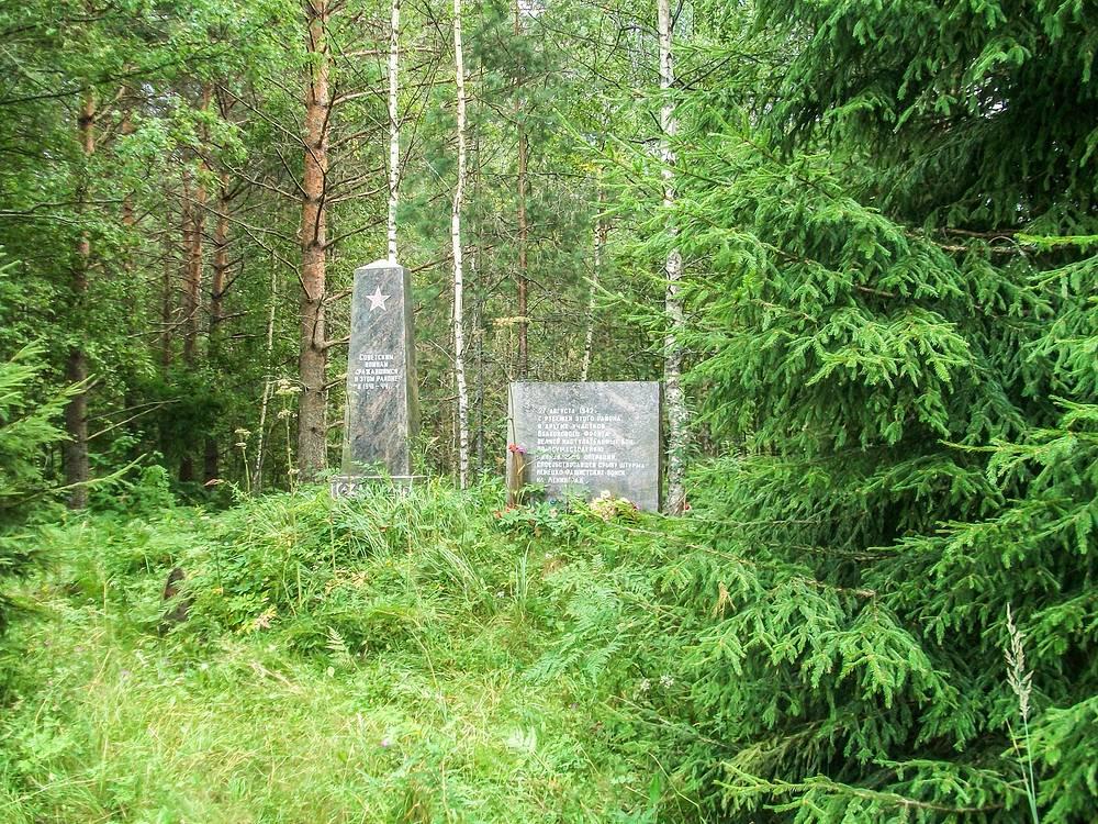 Памятник Третьей Синявинской операции 1942 года.
