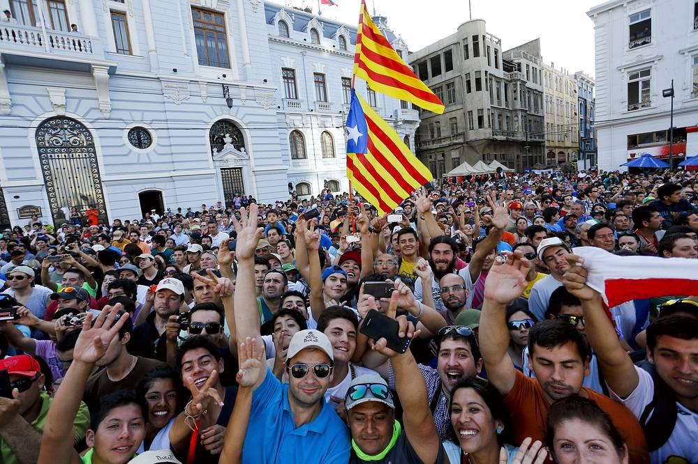 Радость болельщиков в Испании