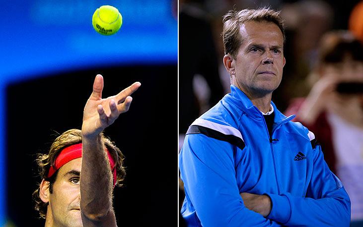 Роджера Федерера тренирует Стефан Эдберг, шестикратный чемпион турниров Большого шлема в одиночном разряде и единственный в истории обладатель Большого шлема среди юниоров