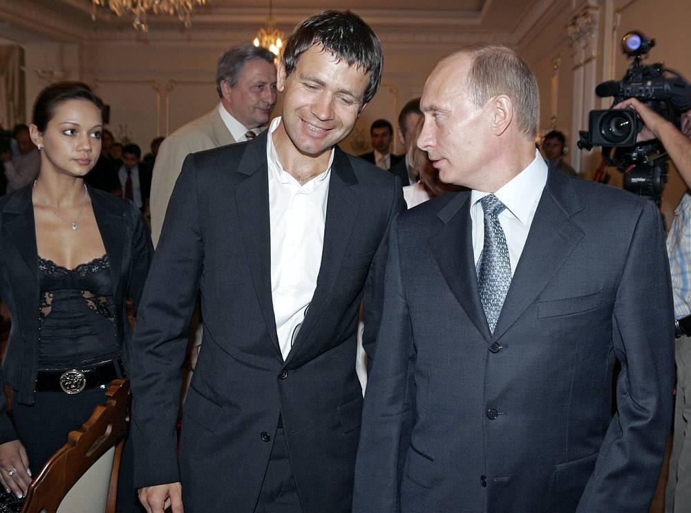 Во время свтречи с Владимиром Путиным. 2007 год