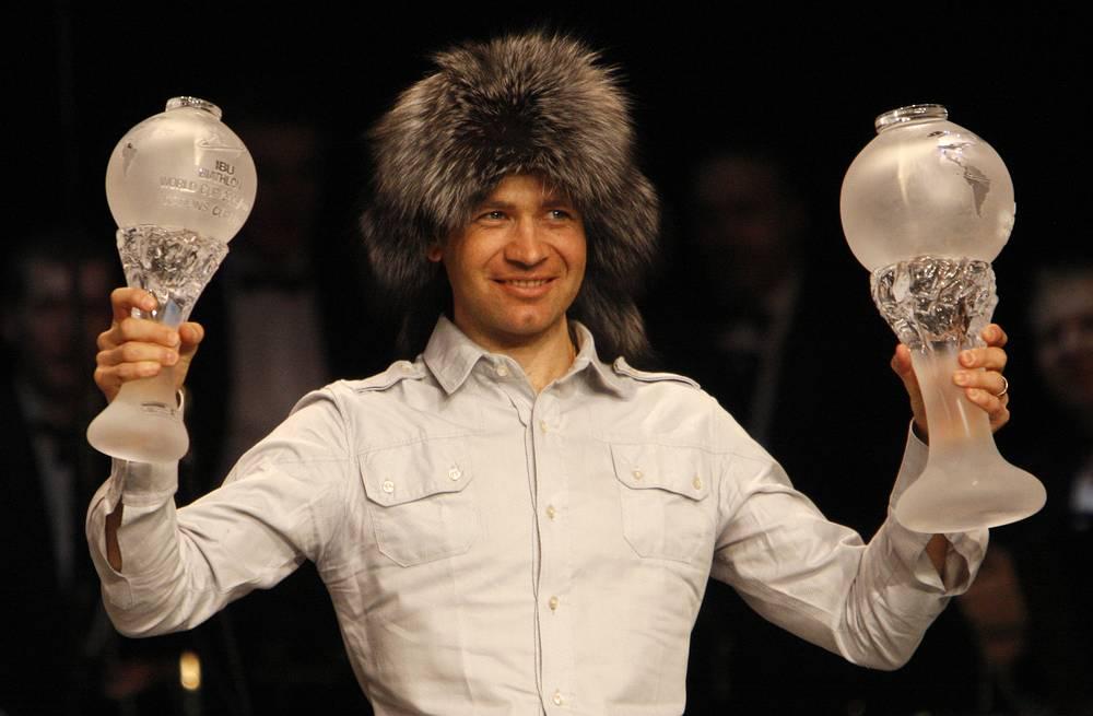 Во время Кубка мира по биатлону в Ханте-Мансийске. 2009 год