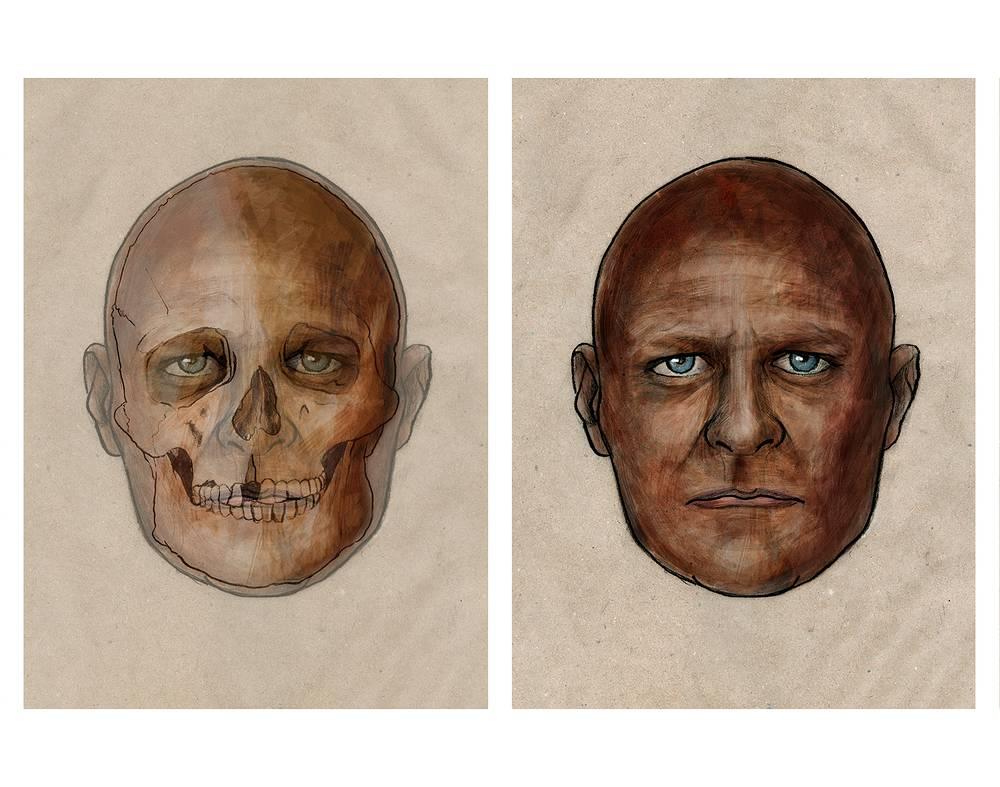 Реконструкция портрета охотника-собирателя, жившего 7 тыс. лет назад