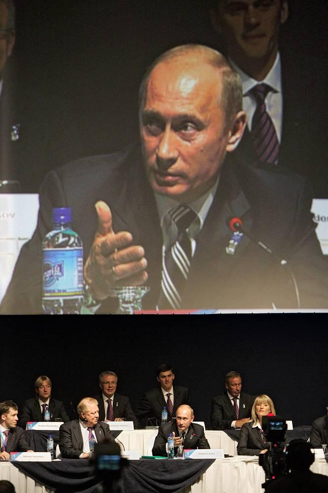 Во время официальной презентации Сочи – города-кандидата на проведение XXII зимних Олимпийских игр 2014 г. Гватемала 2007 г.