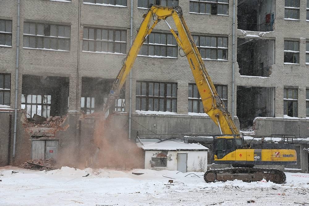 Демонтаж Екатеринбургского мукомольного завода