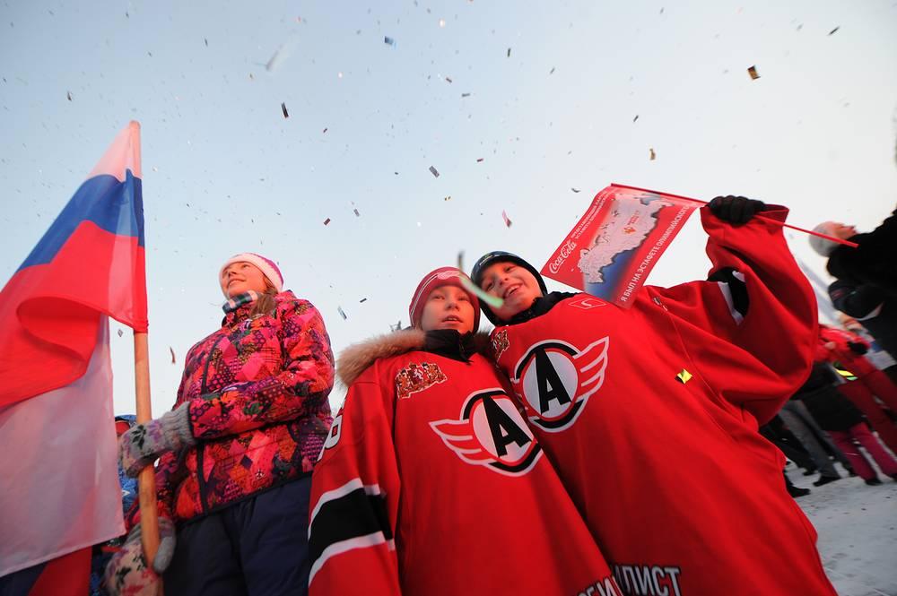 На открытии площадки Live Site Sochi 2014 в Екатеринбурге