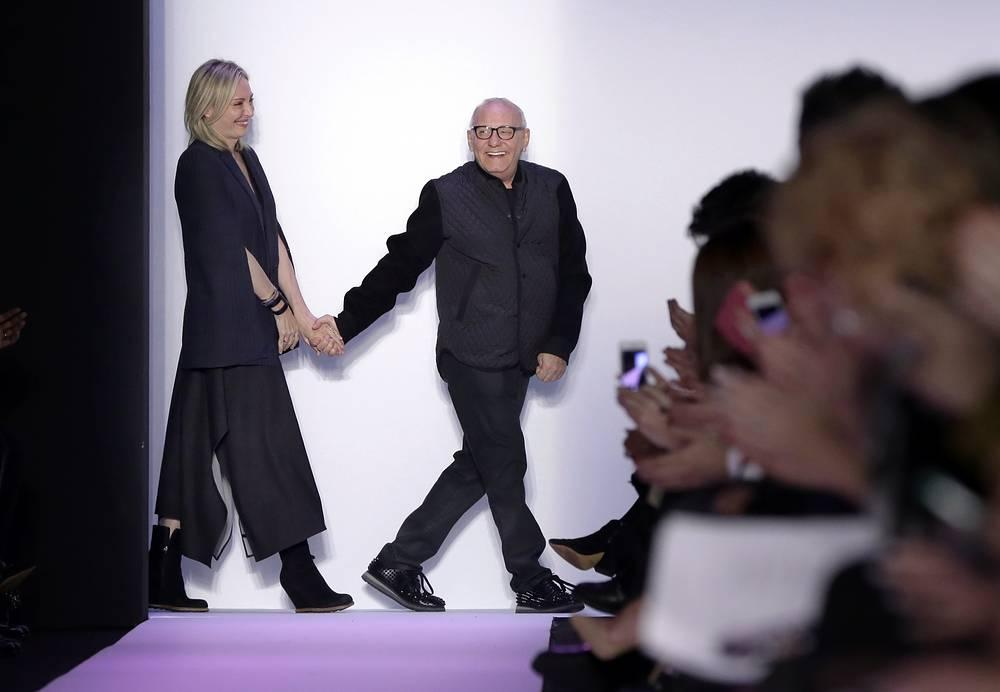 Дизайнер Макс Азриа с женой Любовью после показа своей новой коллекции