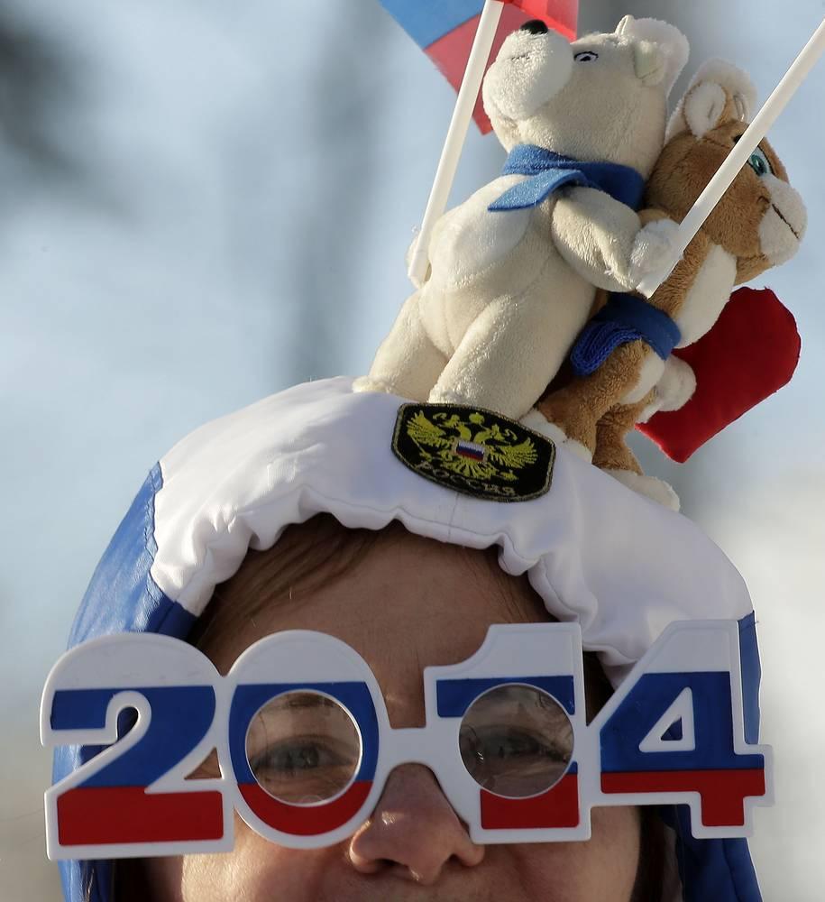 Российский болельщики на зимних олимпийских играх в Сочи, 2014 г.