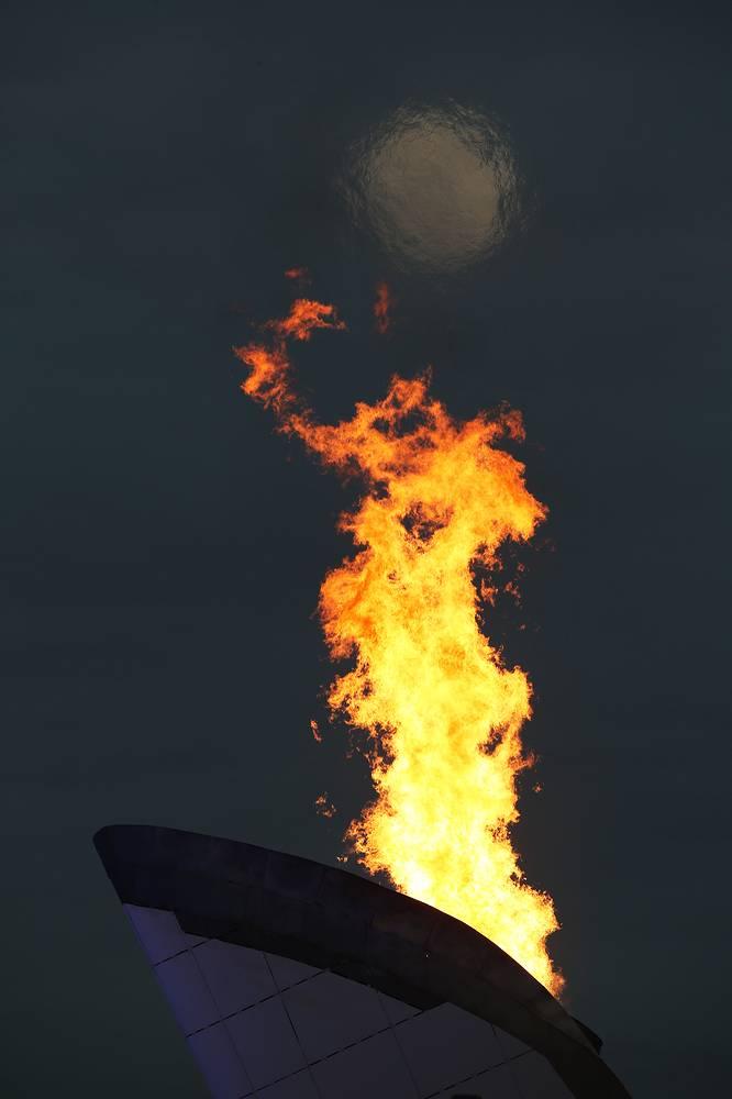 Огонь зимних Олимпийских игр в Сочи