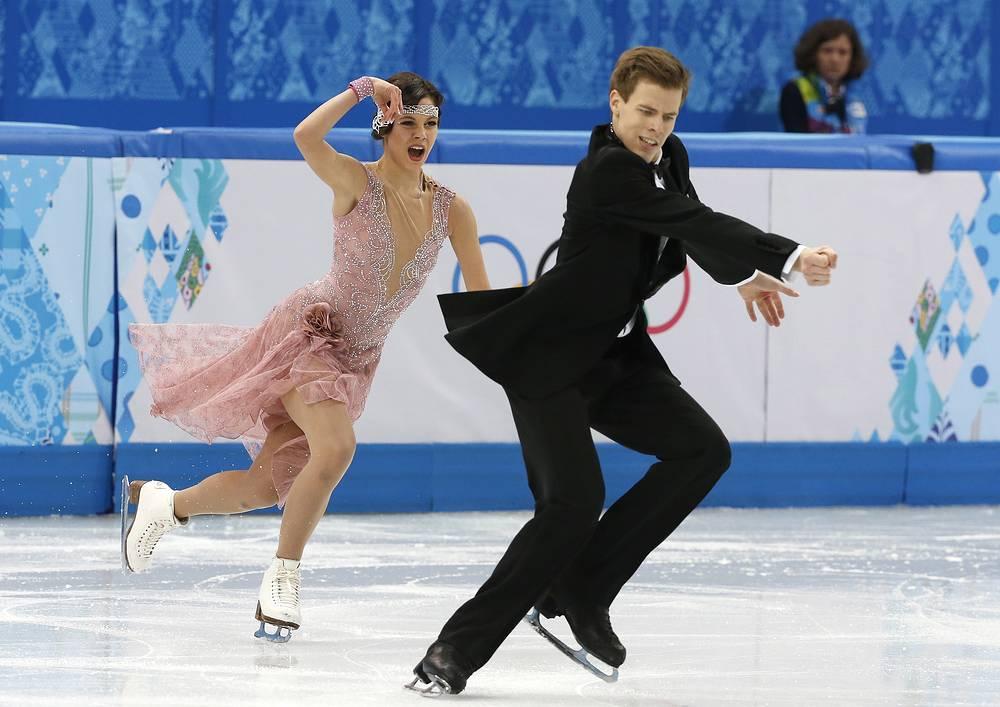 На третьем - россияне Елена Ильиных и Никита Кацалапов (73.04)