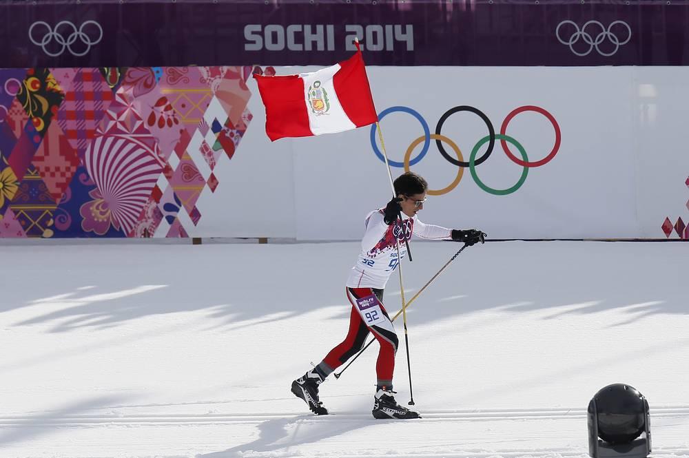 Дебют Перу на зимних Олимпийских играх состоялся в 2010 году в Ванкувере. На Олимпиаде в Сочи третью по величине страну Южной Америки представляют три спортсмена в двух видах спорта – горнолыжном и лыжных гонках. На фото: лыжник Роберто Карселен