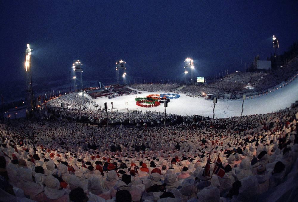 Церемония открытия зимних Олимпийских игр-1994 в в Лиллехаммере