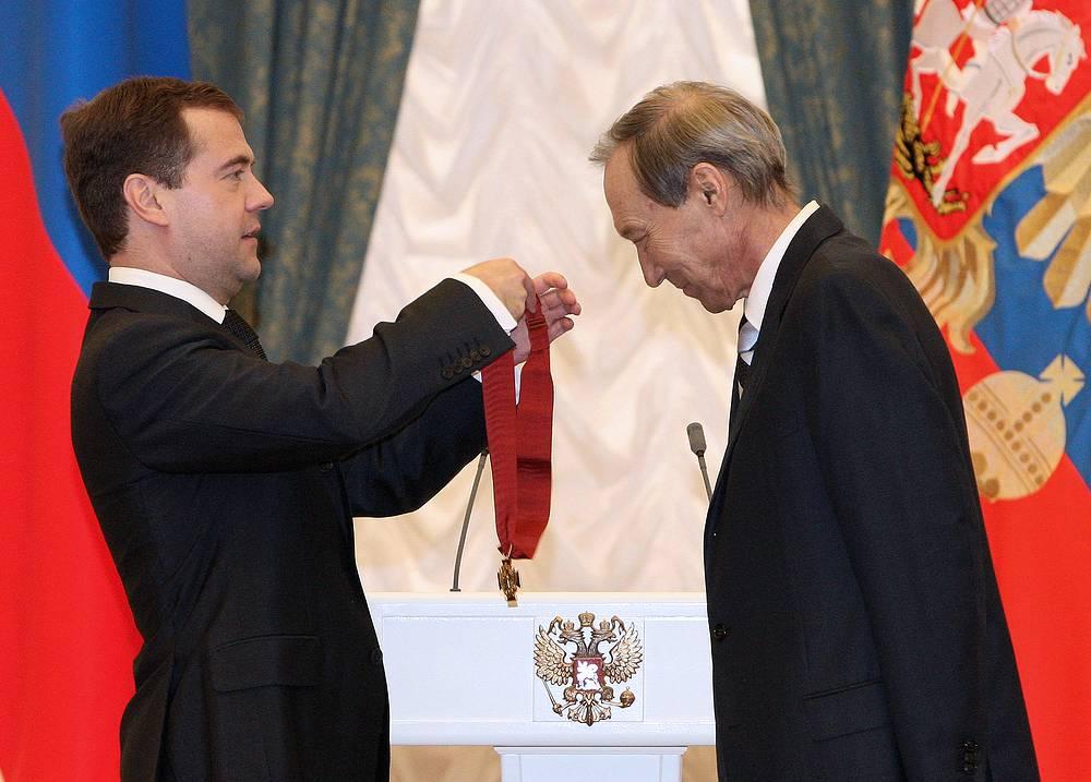 Во время вручения ордена «За заслуги перед Отечеством» II степени