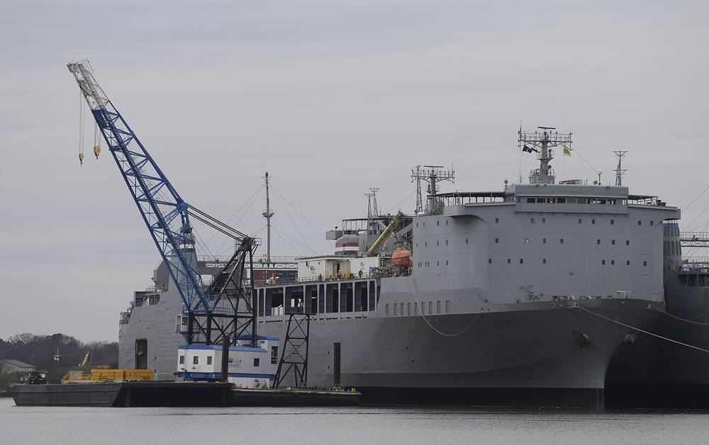 Американское судно Cape Ray, на которое будет отгружено химоружие из Сирии для нейтрализации