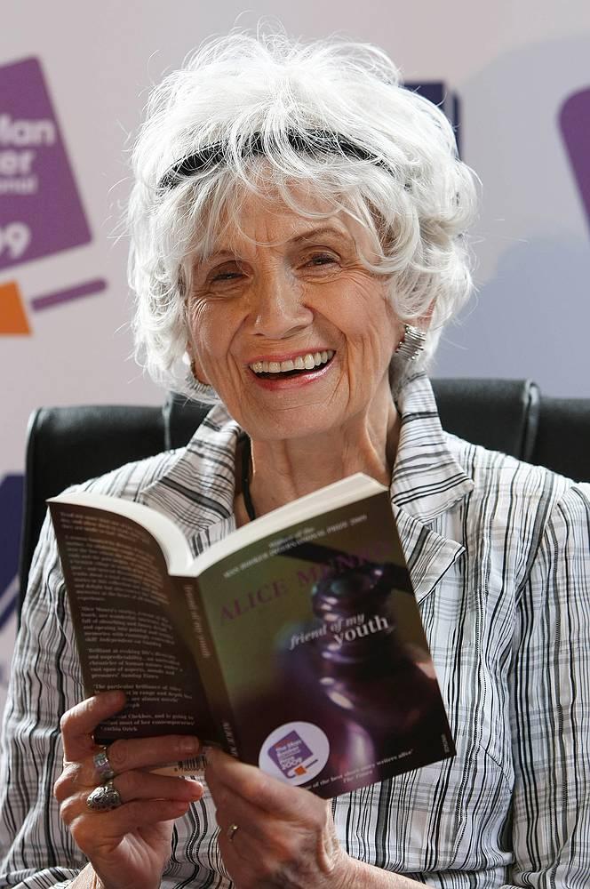 Элис Манро, канадская писательница, лауреат Нобелевской премии по литературе, первый канадский писатель, удостоившийся этой награды.