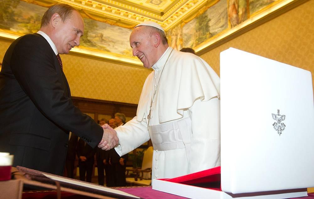 Встреча папы римского и президента России Владимира Путина в Ватикане 25 ноября 2013 года