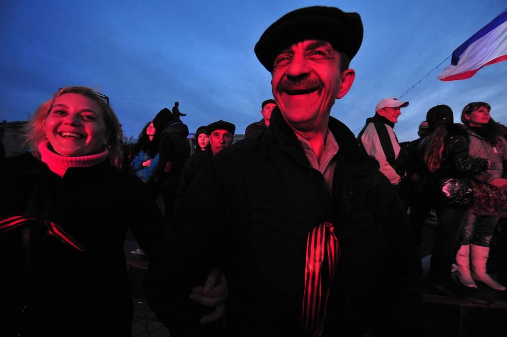 Зрители на концерте в Симферополе