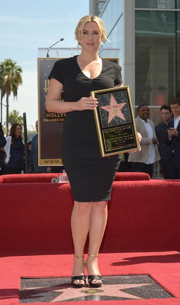 Кейт Уинслет на Аллее славы, 17 марта 2014 год