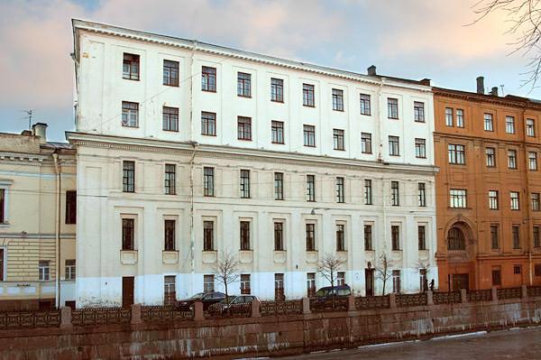 Здание Главного Кригс-Комиссариата (Интендантские склады)  Военно-интендантская академия
