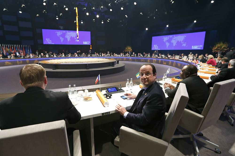 Президент Франции Франсуа Олланд. Саммит по ядерной безопасности в Гааге. 24 Марта 2014 года