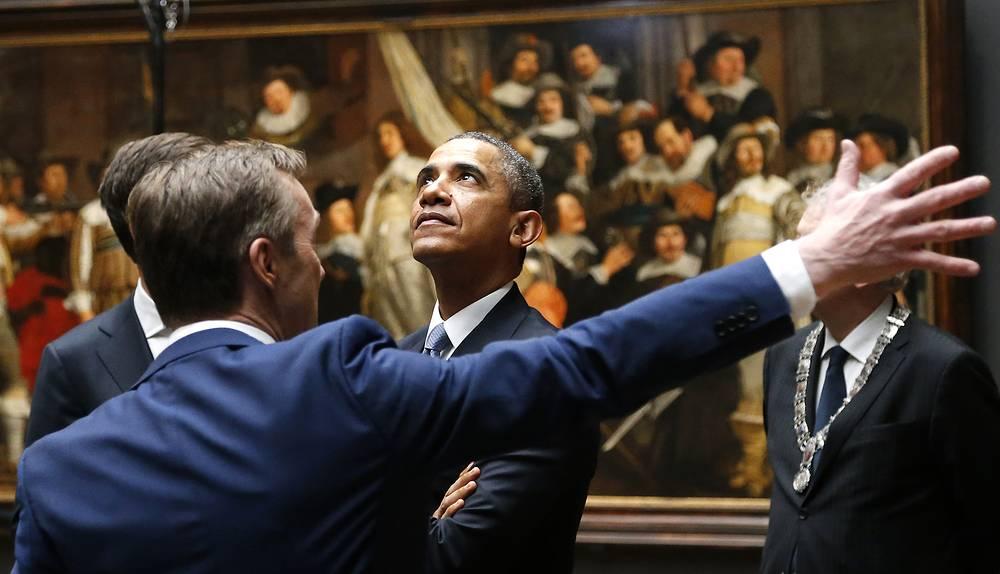 Президент США Барак Обама в государственном музее Амстердама
