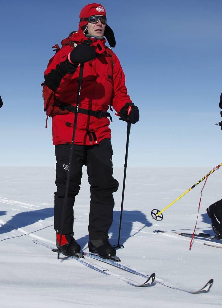 Йенс Столтенберг на Северном полюсе