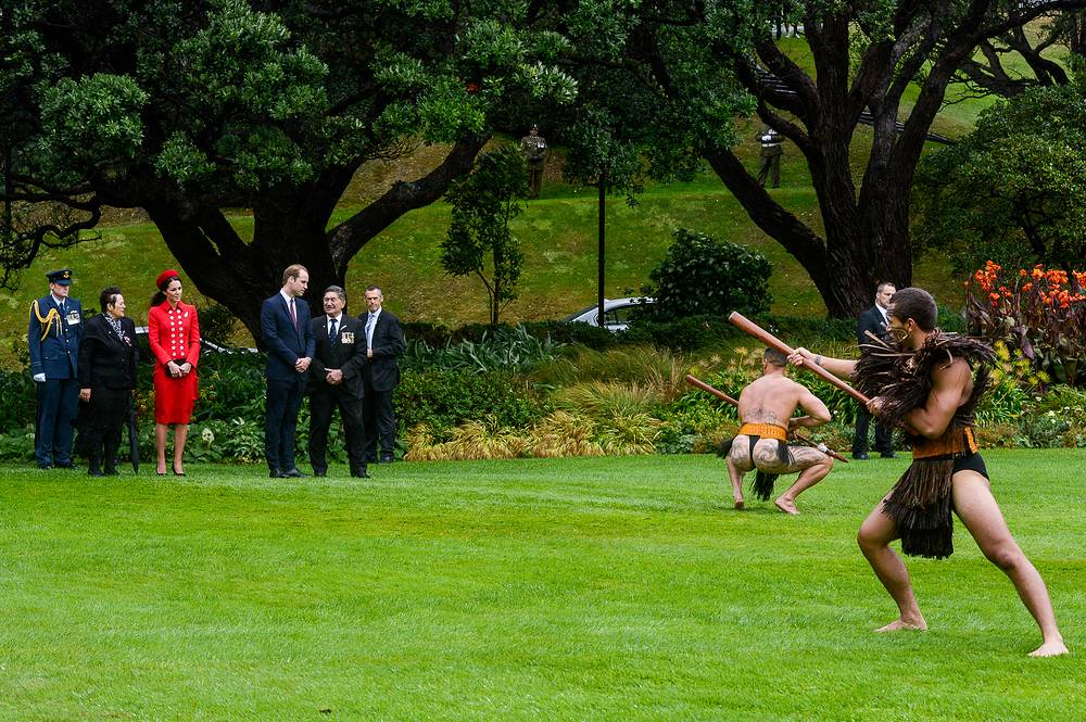 В резиденции генерал-губернатора представители племени маори провели обряд приветствия