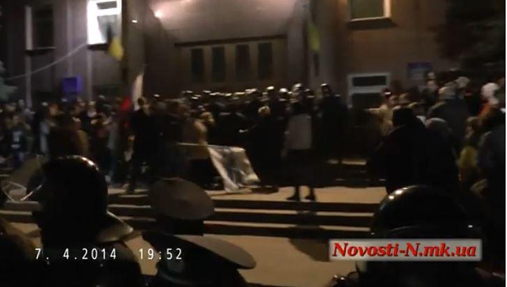Николаев, ночь на 8 апреля 2014 года