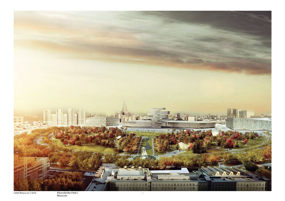 Разработкой архитектурной концепции парка на Ходынском поле займется итальянское архитектурное бюро Land Milano